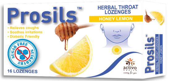 Picture of Prosils Herbal Throat Lozenges  Honey Lemon flavour 16's