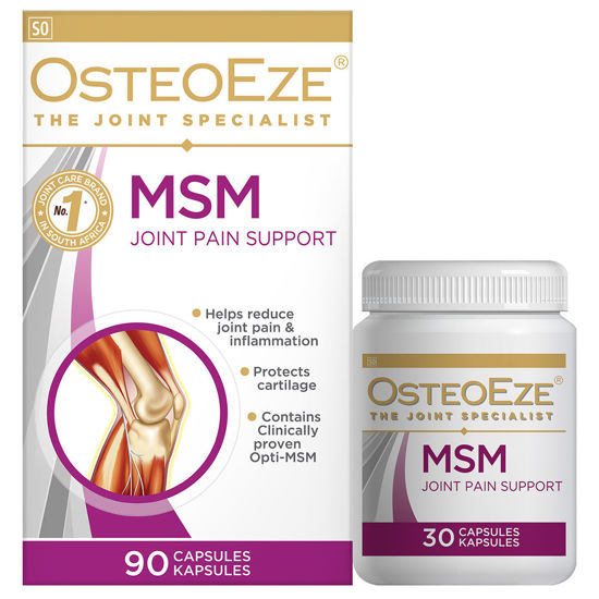 Picture of OsteoEze with MSM banded Capsules