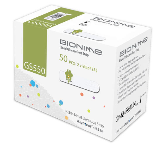 Picture of Bionime Blood Glucose Test Strips GS550 - 50's