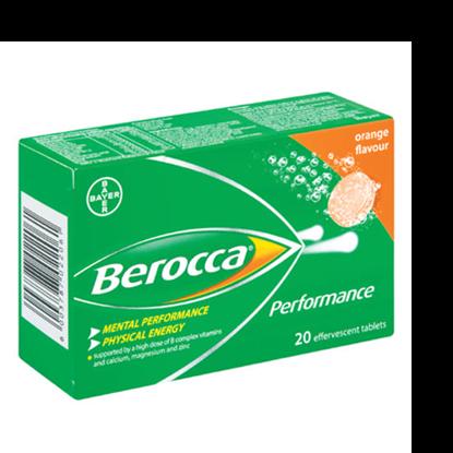 Picture of Berocca Performance Effervescent Tablets Orange 20's