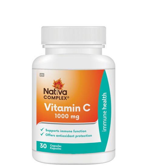 Picture of Nativa Vitamin C 1000mg Capsules 30's