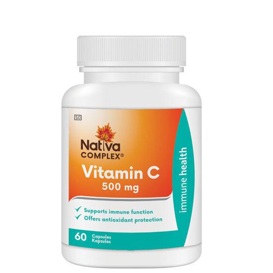 Picture of Nativa Vitamin C 500mg Capsules 60's