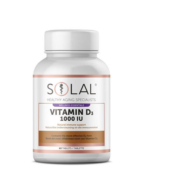 Picture of Solal Vitamin D3 1000 IU Tablets 60's