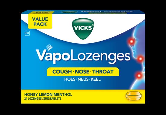 Picture of Vicks Honey Lemon Menthol Lozenges 24's
