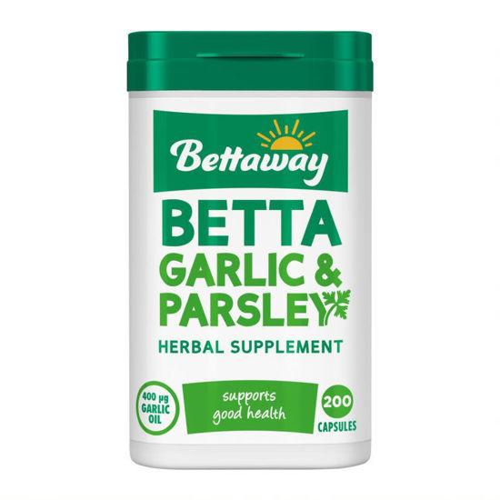 Picture of Bettaway Betta Garlic & Parsley 200 Capsules