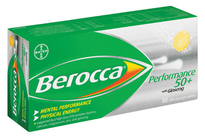 Picture of Berocca Performance 50+ Film Coated Tablets 30's