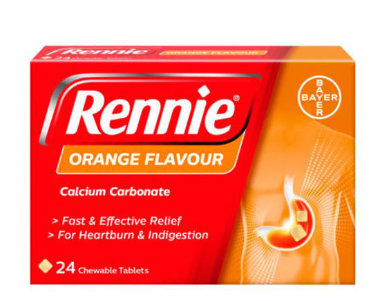 Picture of Rennie Orange Chewable Tablets 24's